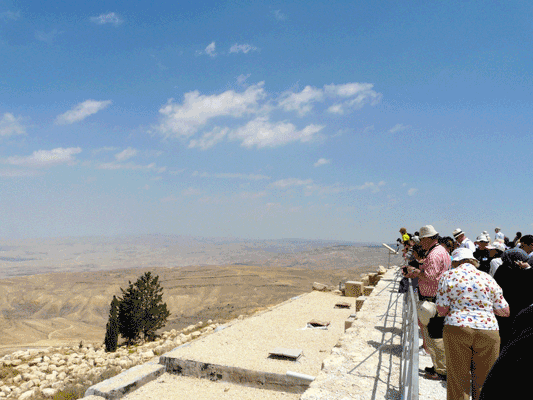 Deuteronomy: Moses gives the law for a second time in Deuteronomy - but doesn't set foot in the Promised Land, he just sees the view from Mt Nebo.